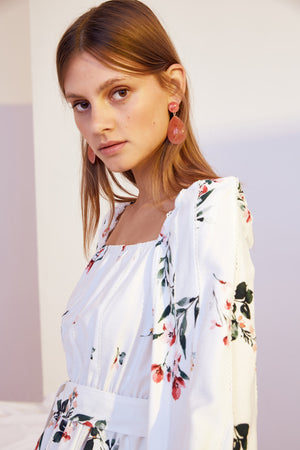 Keepsake Botanic LS Top in Ivory Floral