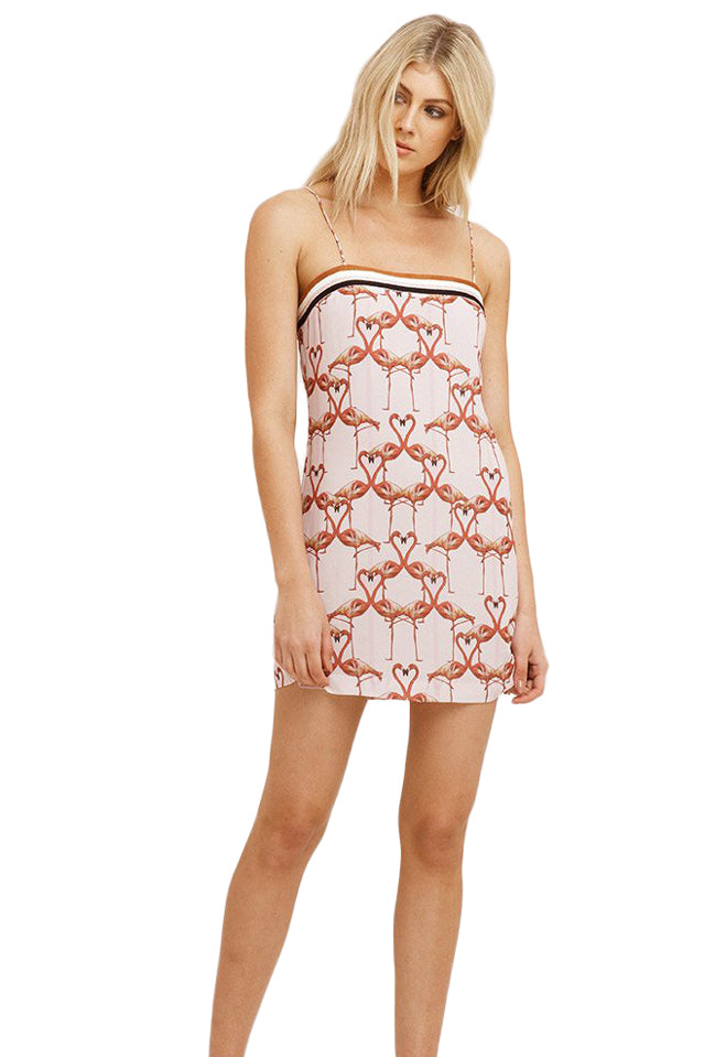 Vestire Flamingo Hearts Mini Dress