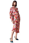 Rebecca Vallance Blume Long Sleeve Midi Dress