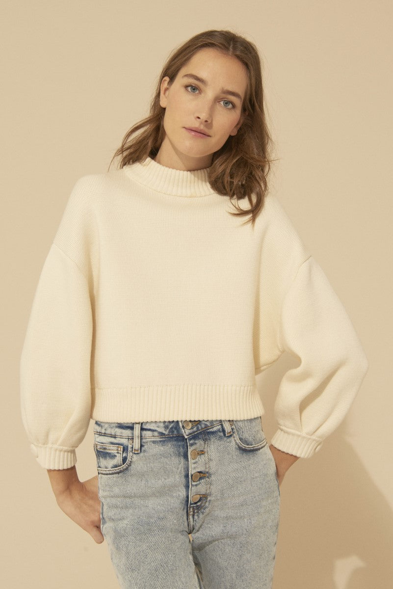 Bash Austin White Knit Jumper