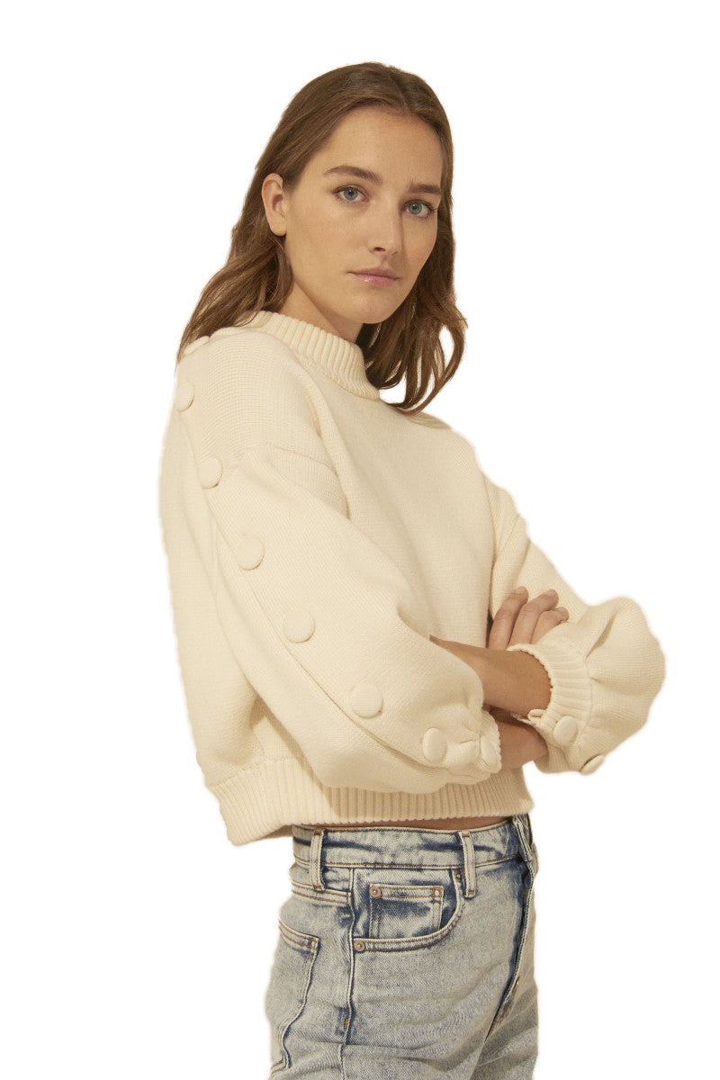 Ba&sh Austin White Knit Jumper