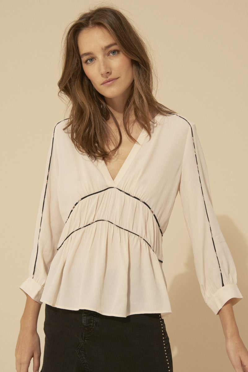Bash Faro Ecru Blouse in Nude