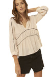 Ba&sh Faro Ecru Blouse in Nude