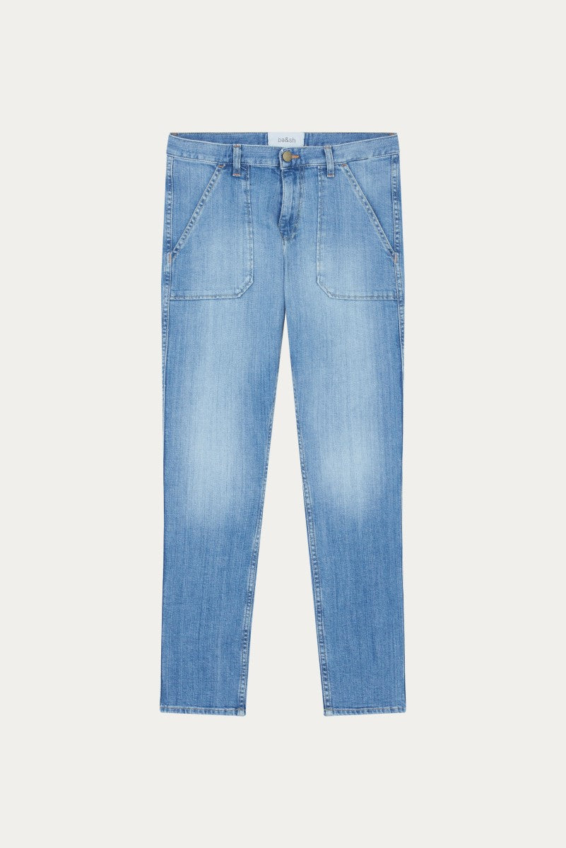 Ba&sh Sally Light Used Blue Jeans