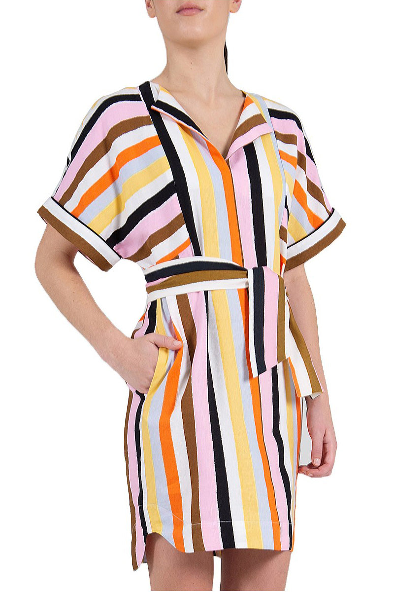 Rebecca Vallance Franklin Mini Stripe Dress