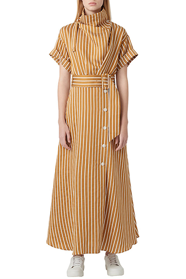 Camilla & Marc Zion Stripe Dress in Tan & White