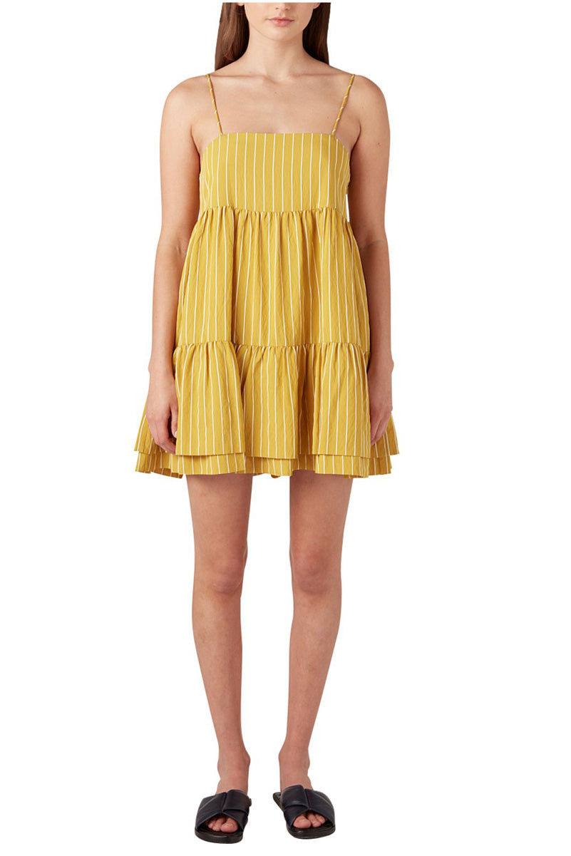 Camilla and Marc Pollino Stripe Dress in Chartreuse