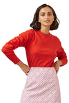 Finders Josie Long Sleeve Knit in Red