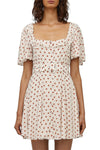 Steele Daydream Dress in White Polka