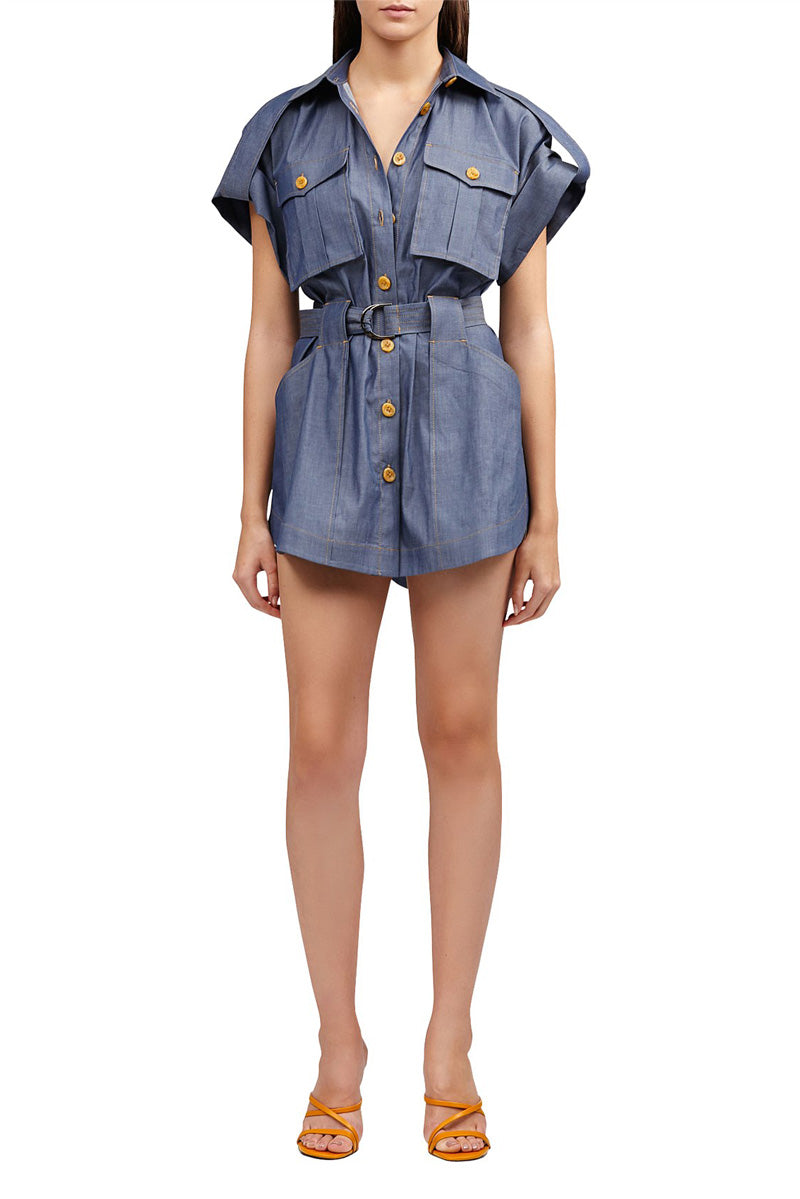 Acler Delton Shirt Dress in Chambray