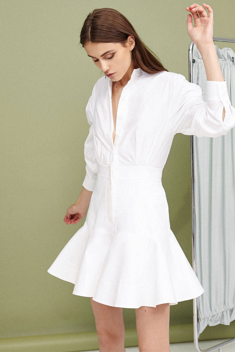 Acler Lewis Shirt Dress in White