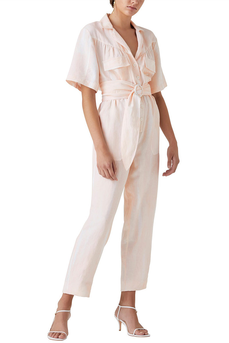 Steele Solange Jumpsuit in Peach Wash