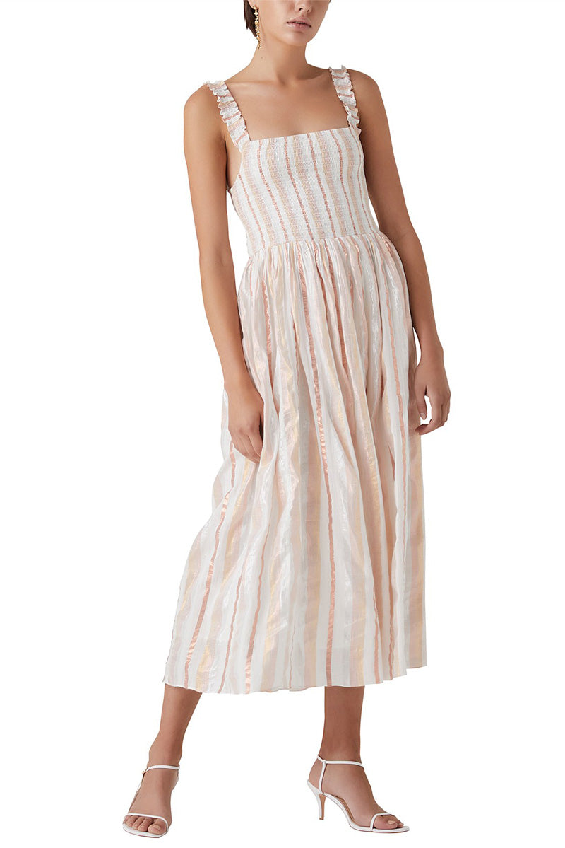 Steele Lovelle Dress in Quartz Stripe