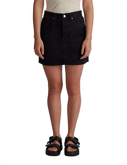 Camilla & Marc Frieda Denim Skirt in Black