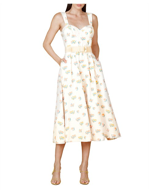 Rebecca Vallance Hadi Midi Dress in Print