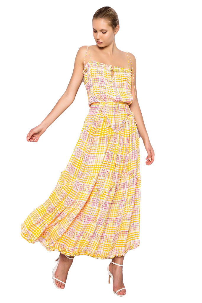 S/W/F Magic Dress in Carousel Yellow