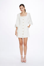 We Are Kindred Mathilde Linen Mini Dress in Ivory