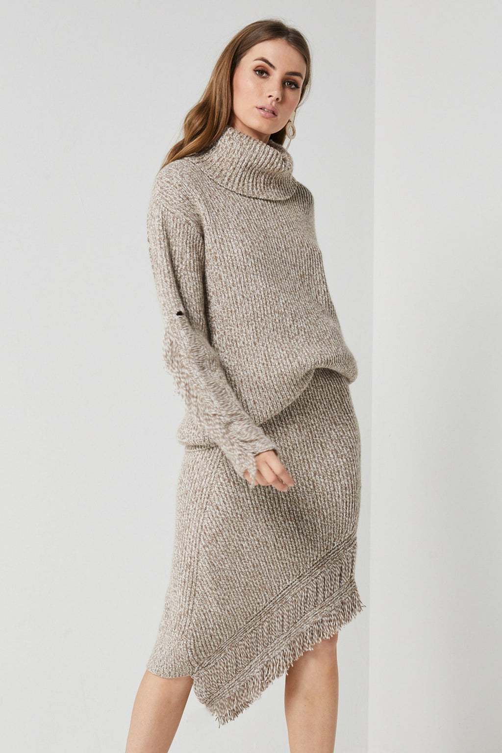 Elliatt Spell Knit Sweater in Oat