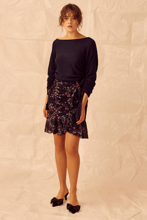 Keepsake Embrace Skirt in Navy Floral