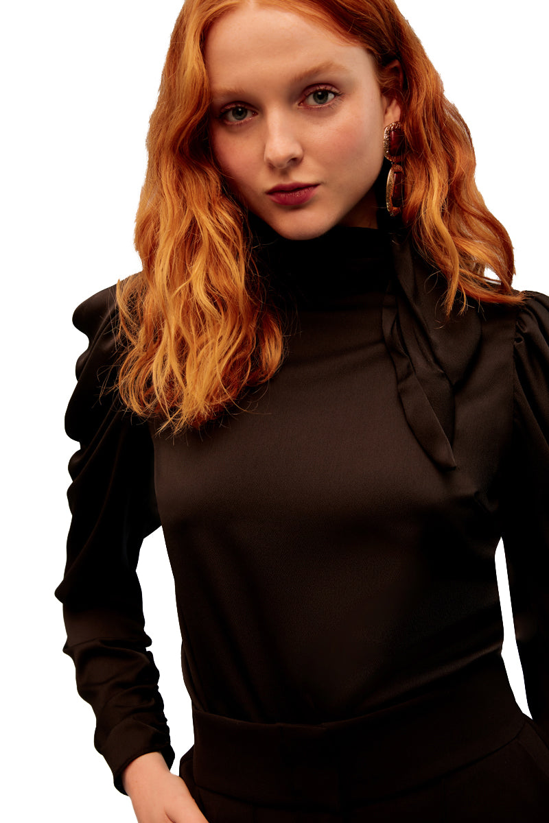 Keepsake Vienna Long Sleeve Top in Black