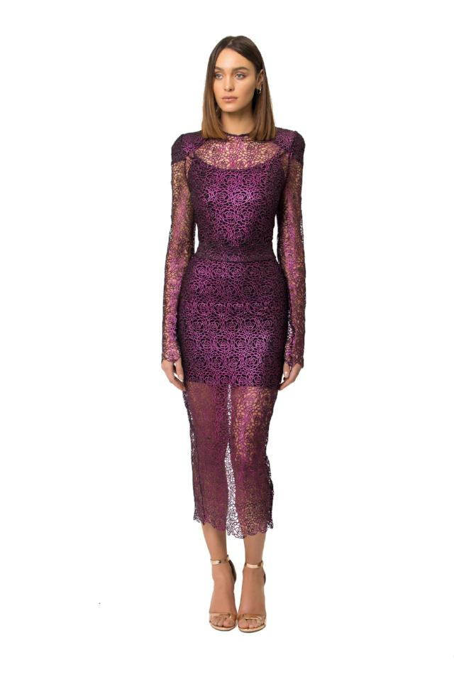 Zhivago Narcissist Dress in Grape
