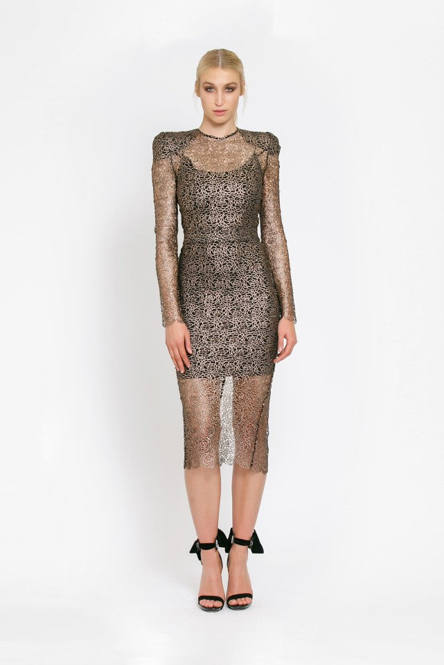 Zhivago Narcissist Dress in Gold