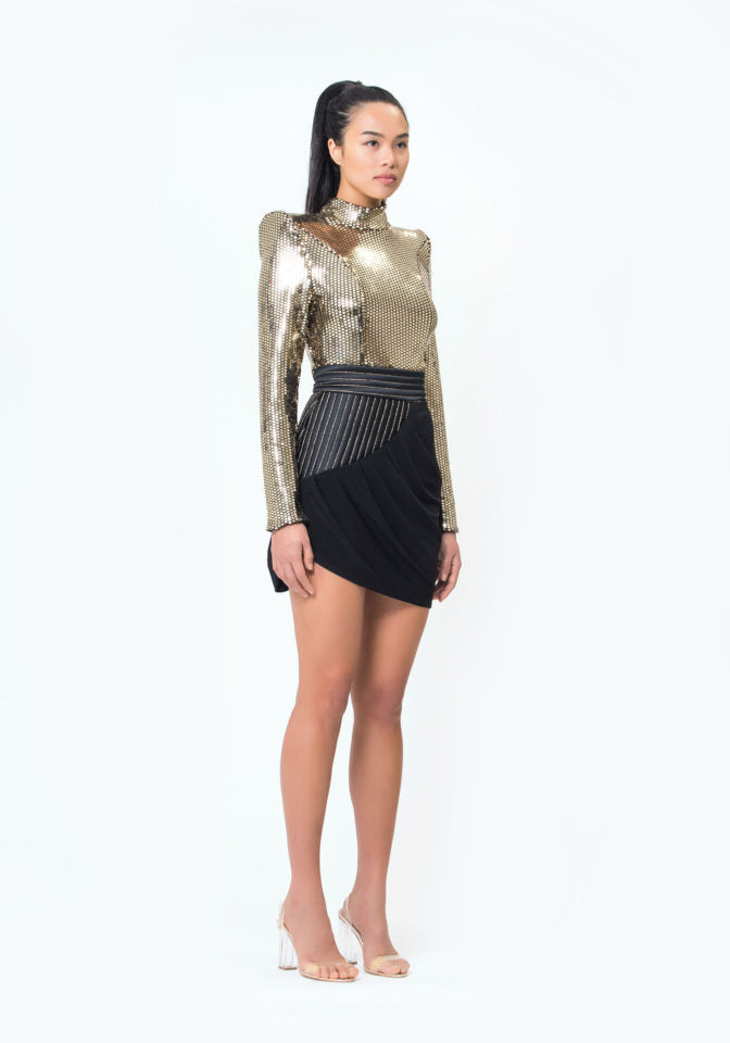 Zhivago When the Sun Went Down Metallic Top in Gold