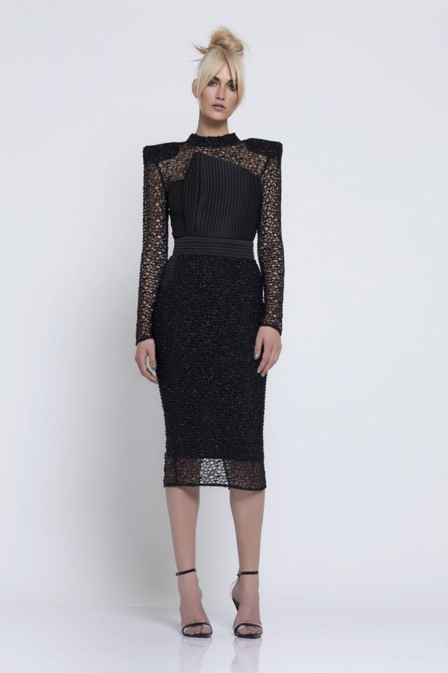 Zhivago Empire Dress in Black