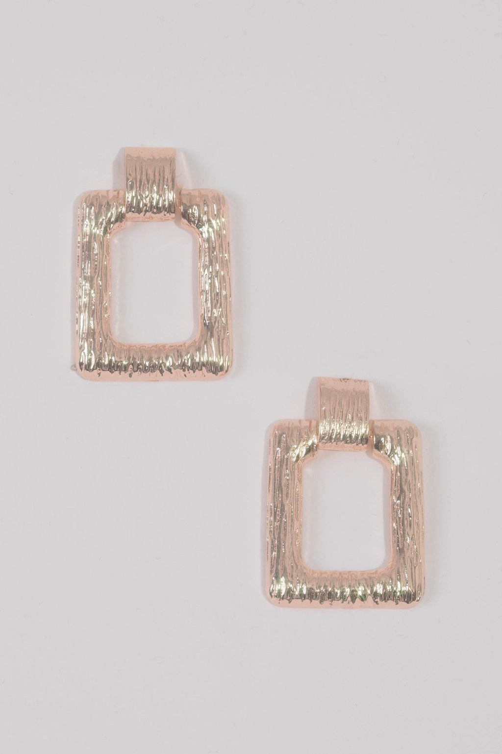 Kate Wilson Square Drop Earring in Gold Texture