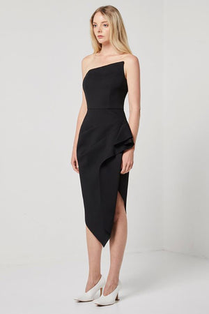 Elliatt Landscape Dress in Black