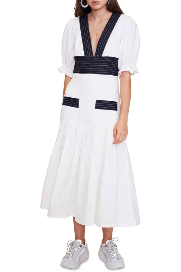 Vestire Only Girl Midi Dress in Black/White