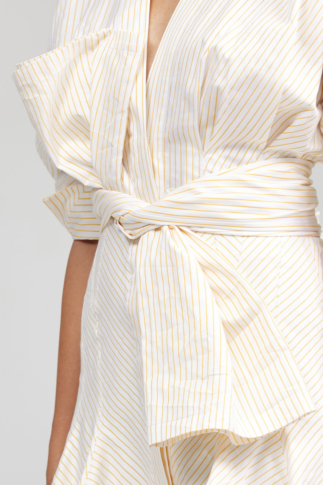 Acler Lipton Shirt Dress in Gold Stripe