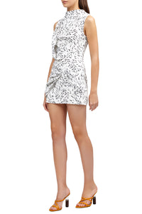 Acler Jasper Dress in Monochrome Swirl