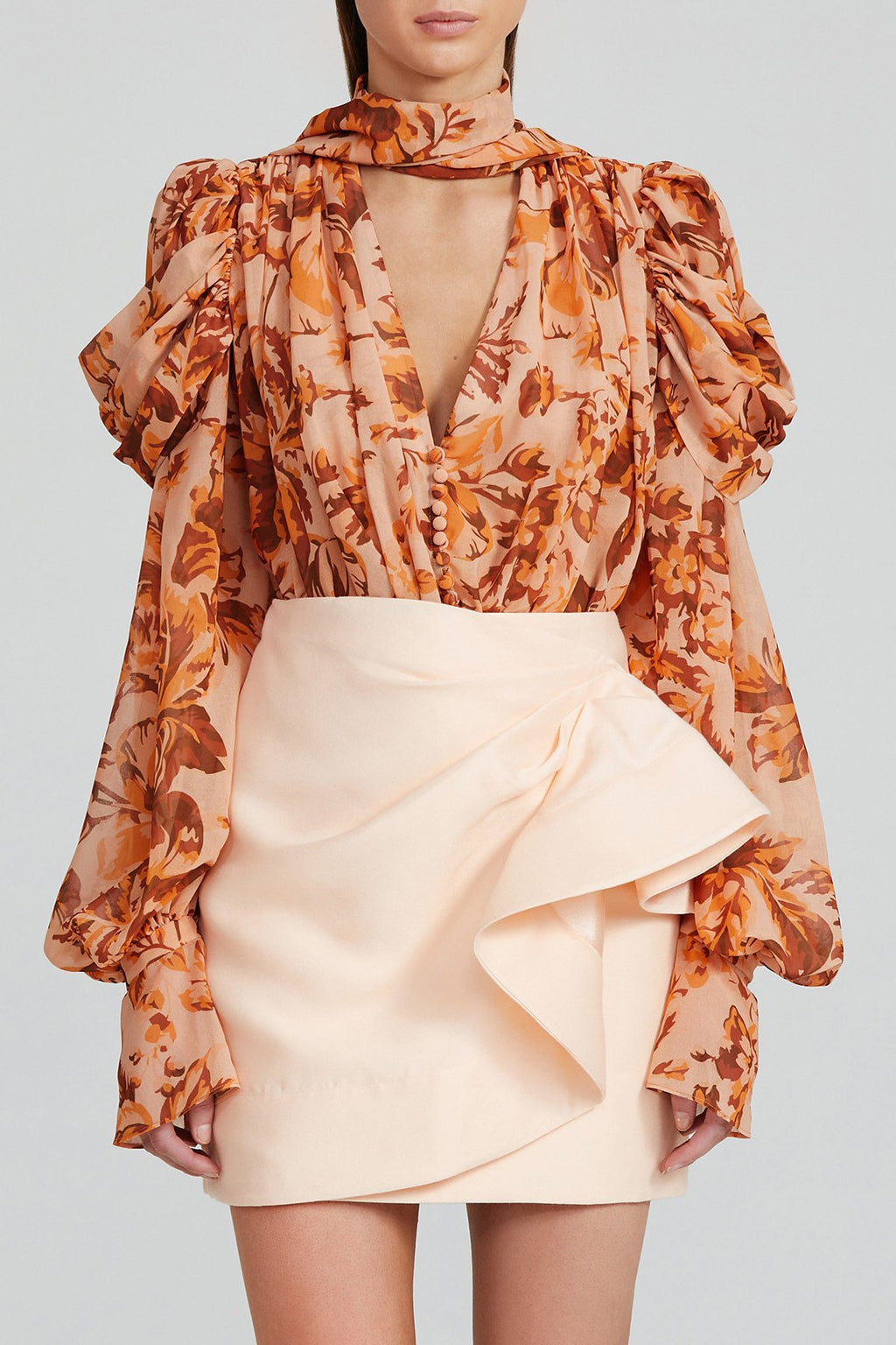 Acler Darcher Skirt in Peach Sorbet