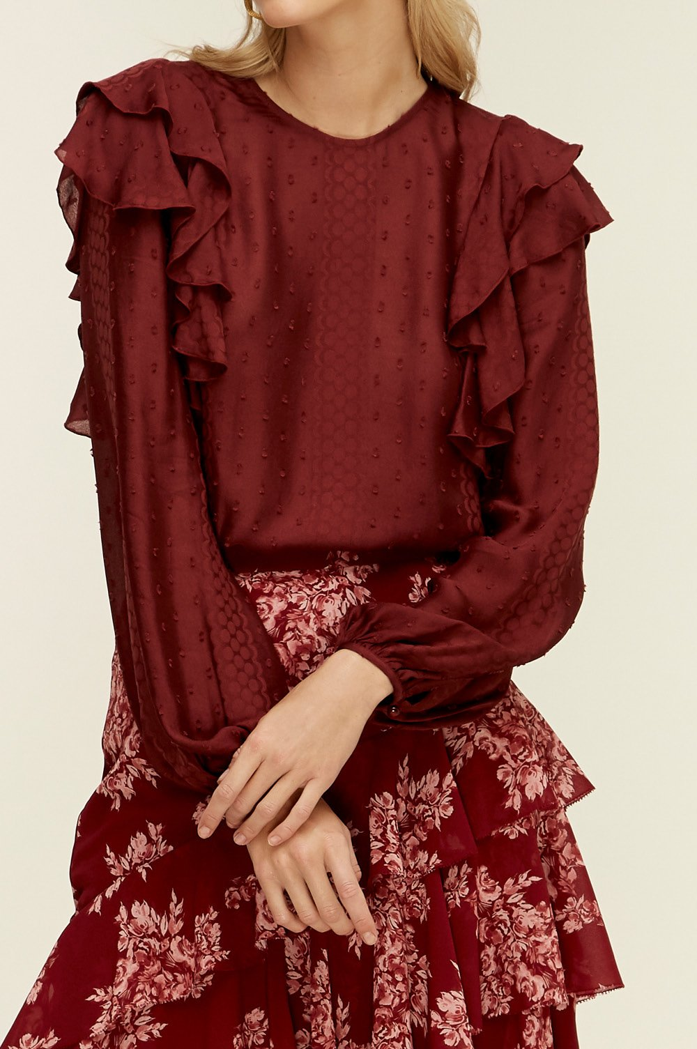 Lover Juliette Top in Burgundy