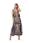 Mossman Sunset Amor Maxi Dress in Stripe