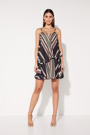 Mossman Sunset Amor Swing Dress in Stripe