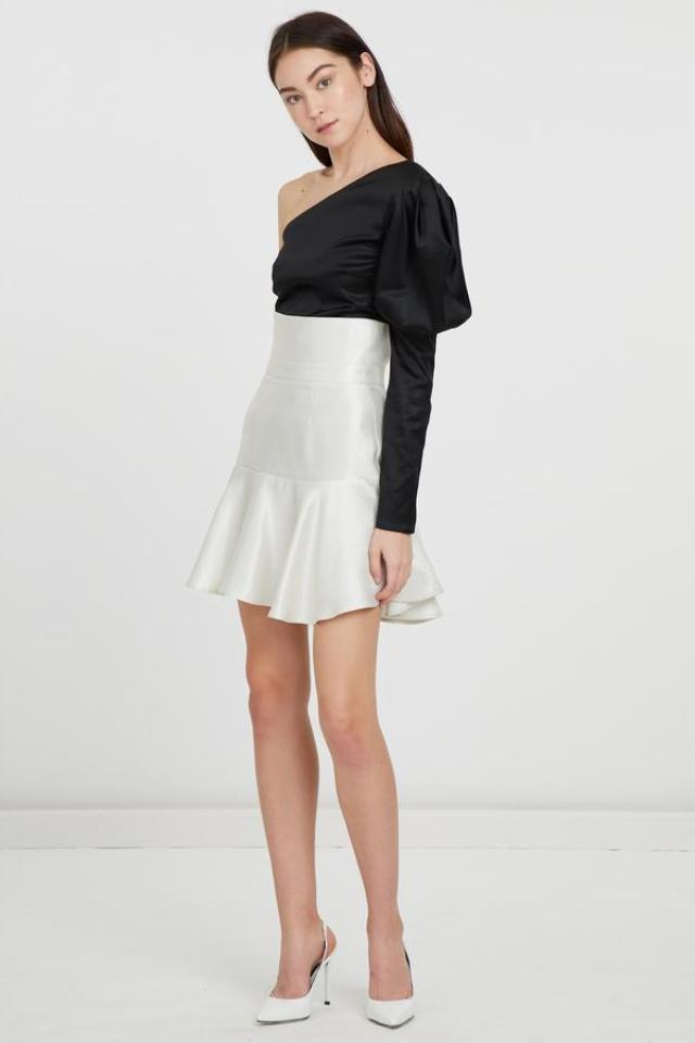 ByKane Marshall Skirt in Metallic Silver