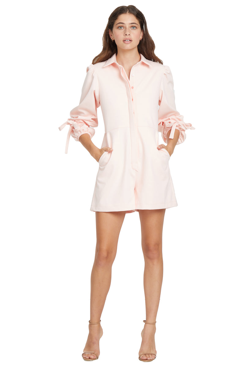ByKane Leo Playsuit in Pink