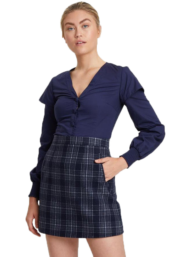ByKane Gabrielle Skirt in Navy Check