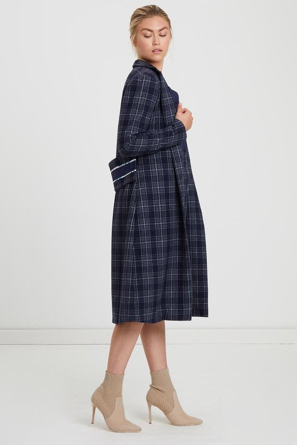 ByKane Darlo Coat in Navy Check