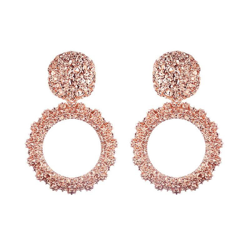 Maya Belly Earrings in Rose Gold