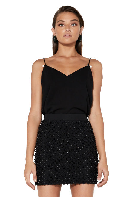 Mossman Beyond It All Top in Black