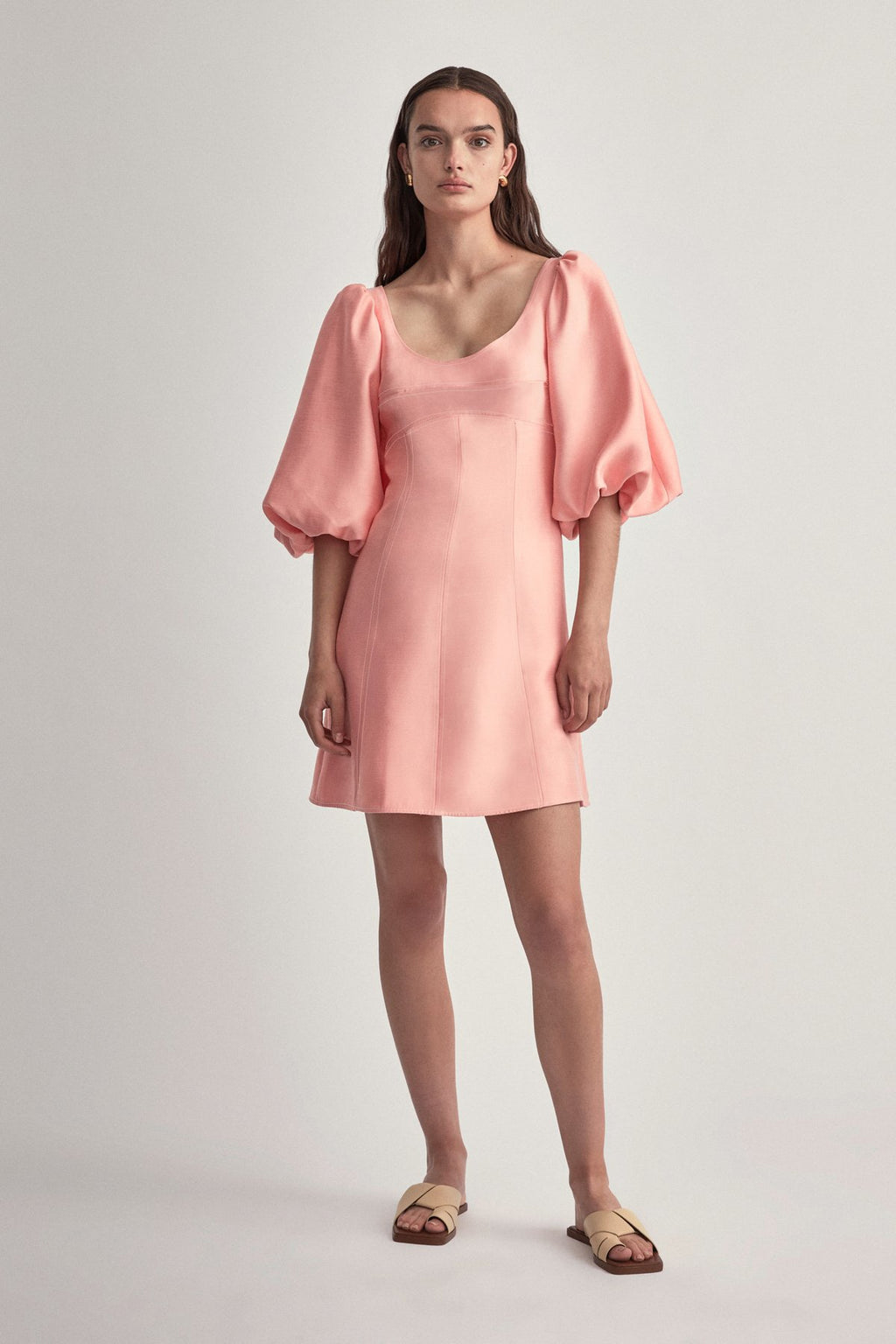 Camilla & Marc Claudia Mini Dress in Salmon