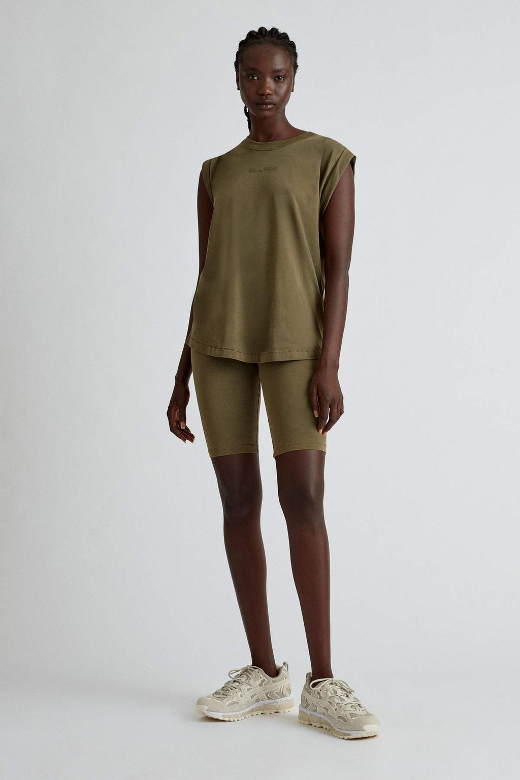 Camilla and Marc Cadiz Logo Tank in Dark Khaki