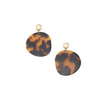 Jolie & Deen Amy Tortoise Shell Earrings