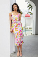 Rebecca Vallance Garda Midi Slip Dress in Floral