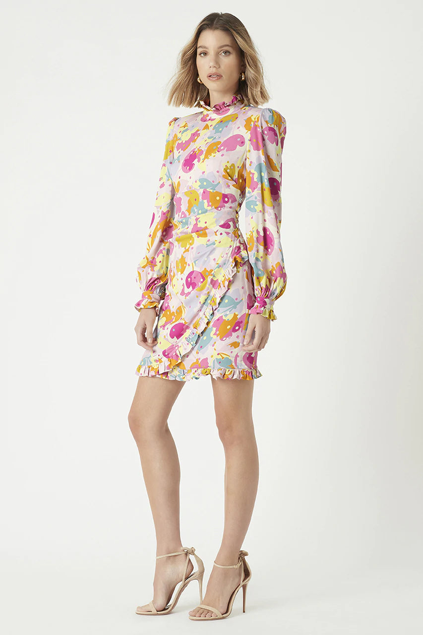 Rebecca Vallance Garda Long Sleeve Mini Dress in Floral