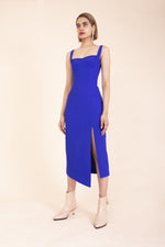 Ginger & Smart Suffuse Fitted Dress in Cobalt