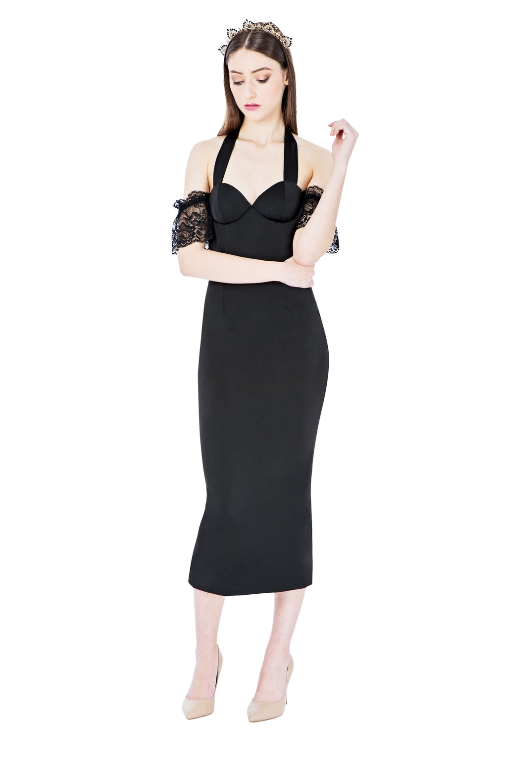Georgy Collection Aurora Dress in Black